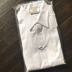 NWT Thomas Pink Classic Fit white dress shirt